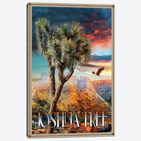 Joshua Tree National Park 3-Piece Canvas #ORT47} by Old Red Truck Canvas Print