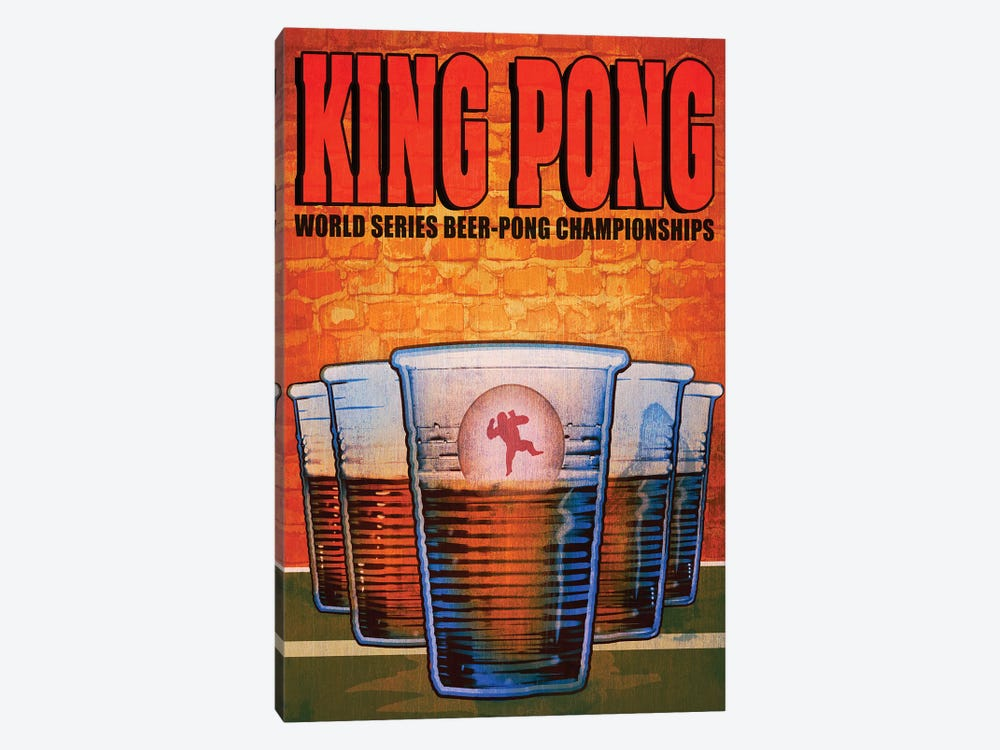 King Pong by Old Red Truck 1-piece Canvas Wall Art