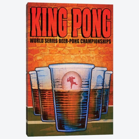 King Pong 3-Piece Canvas #ORT48} by Old Red Truck Canvas Artwork