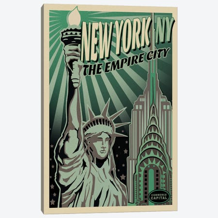Lady Liberty Canvas Print #ORT50} by Old Red Truck Canvas Art Print