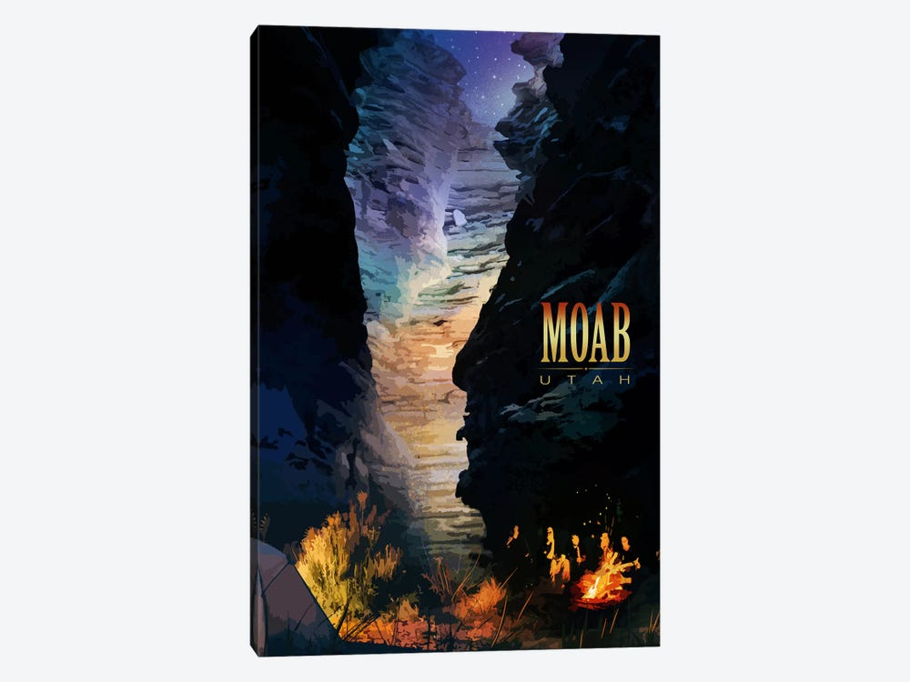 Moab by Old Red Truck 1-piece Canvas Wall Art