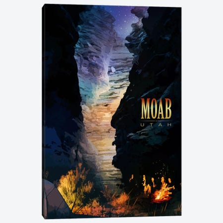 Moab Canvas Print #ORT55} by Old Red Truck Canvas Artwork