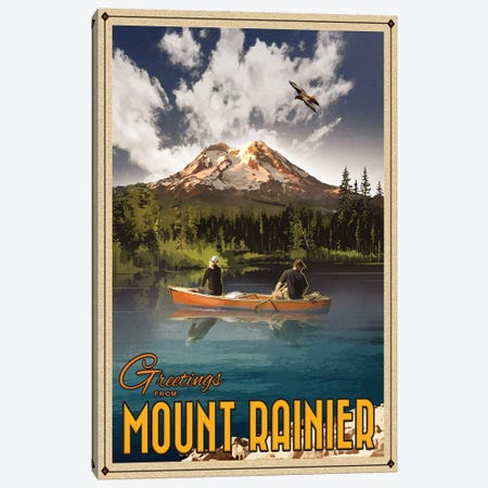 Mt. Rainier 3-Piece Canvas #ORT58} by Old Red Truck Art Print