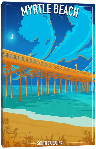 Myrtle Beach Canvas Art Print