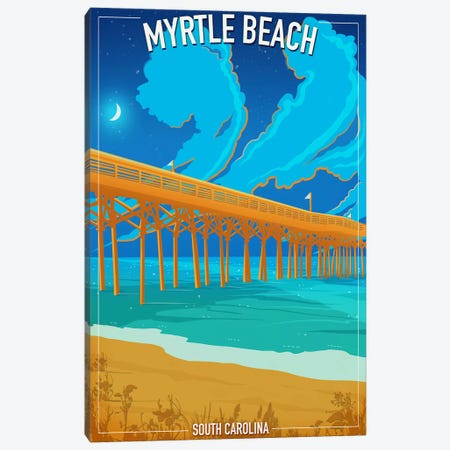 Myrtle Beach 3-Piece Canvas #ORT61} by Old Red Truck Canvas Artwork
