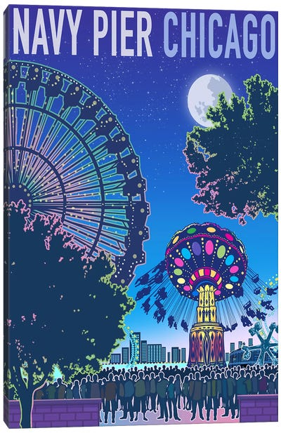 Navy Pier Chicago Canvas Art Print