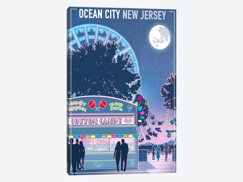 Ocean City, New Jersey by Old Red Truck 1-piece Canvas Print