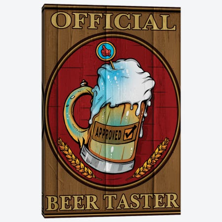 Beer Taster, Wood 3-Piece Canvas #ORT6} by Old Red Truck Canvas Print