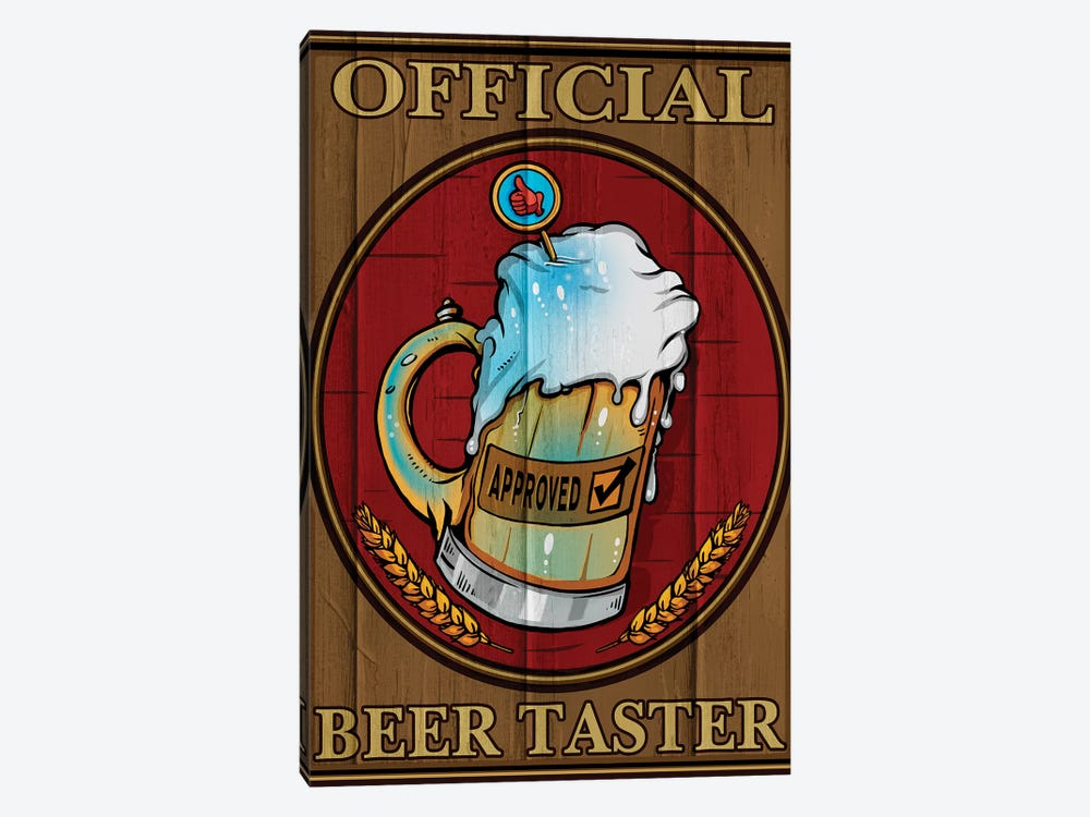 Beer Taster, Wood by Old Red Truck 1-piece Canvas Artwork