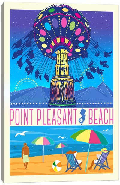 Point Pleasant Beach, New Jersey Canvas Art Print