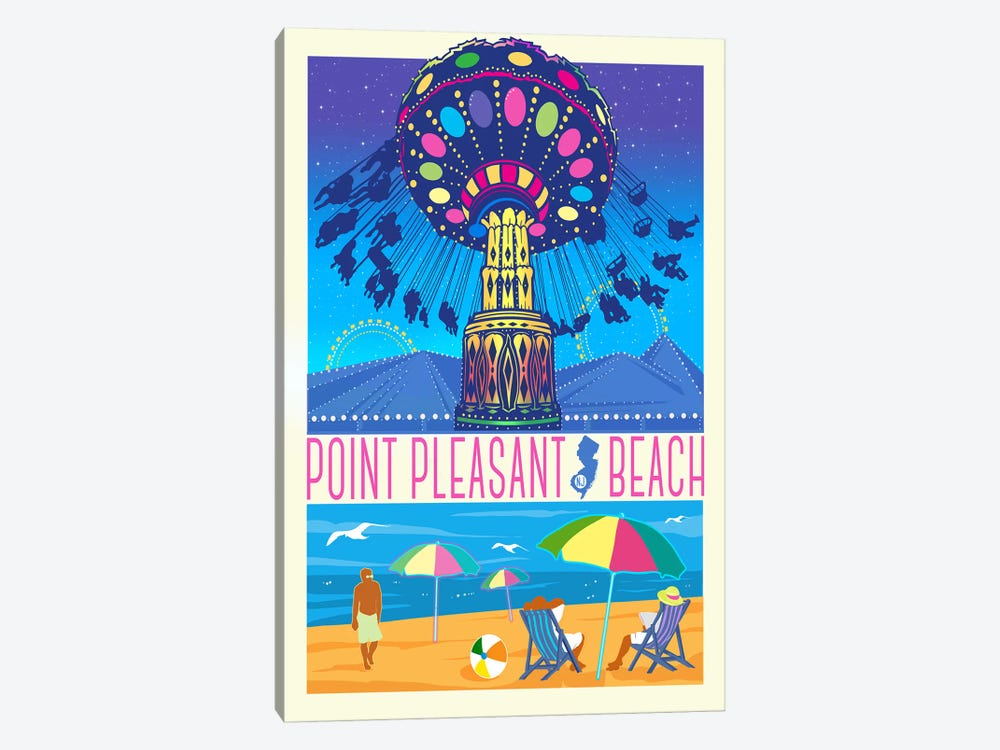 Point Pleasant Beach, New Jersey by Old Red Truck 1-piece Canvas Artwork