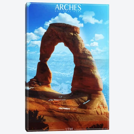 Arches National Park Canvas Print #ORT79} by Old Red Truck Canvas Print