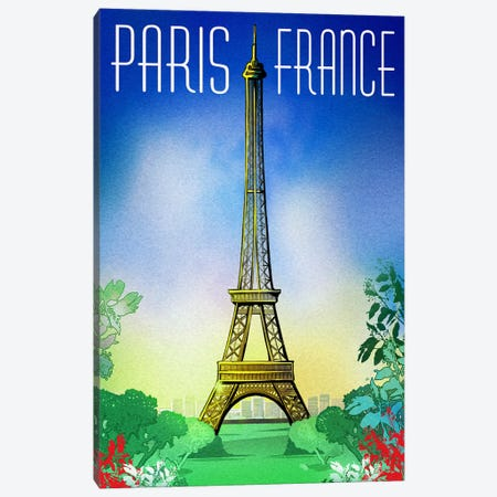 Springtime In Paris 3-Piece Canvas #ORT83} by Old Red Truck Canvas Artwork