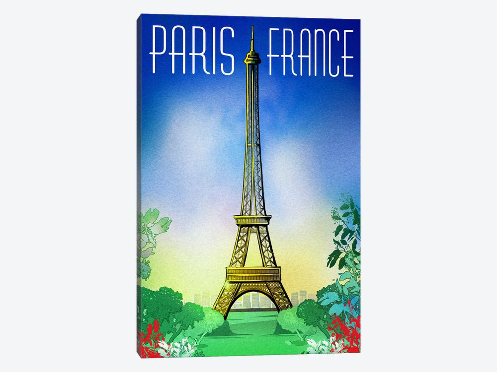 Springtime In Paris by Old Red Truck 1-piece Canvas Print