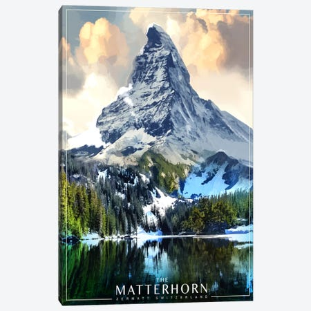 The Matterhorn Canvas Print #ORT87} by Old Red Truck Canvas Print