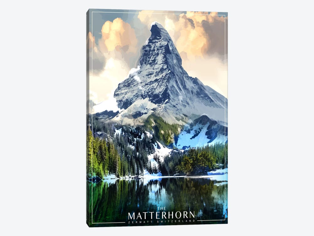 The Matterhorn by Old Red Truck 1-piece Art Print