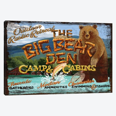 Big Bear Den Canvas Print #ORT8} by Old Red Truck Canvas Wall Art
