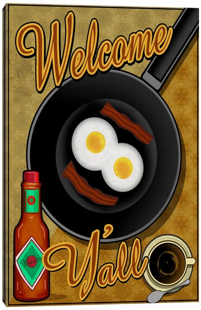 Welcome Y'all Canvas Art Print