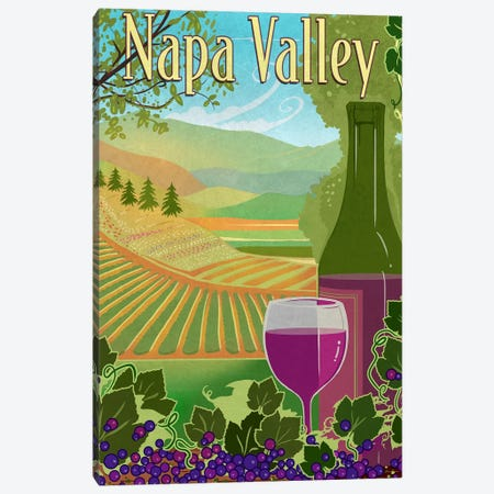 Wine Country Canvas Print #ORT91} by Old Red Truck Art Print