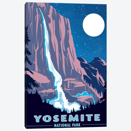 Yosemite National Park, Night 3-Piece Canvas #ORT96} by Old Red Truck Canvas Artwork