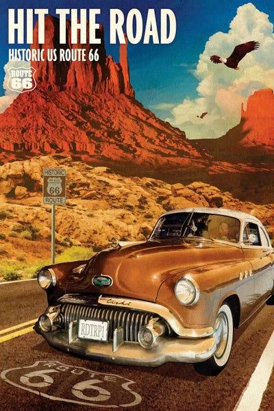 Canvas XXL Pop Art Muscle Car USA Abstract Art Print Wall Poster