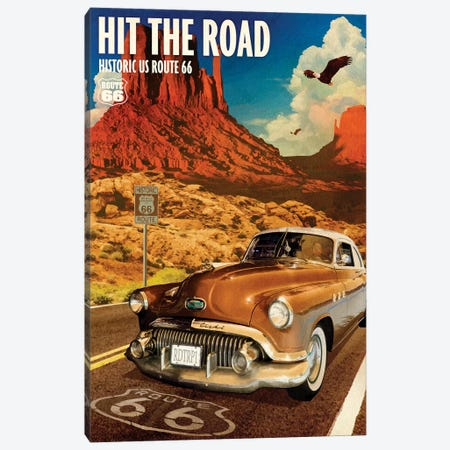 66 Desert Cruise Canvas Print #ORT97} by Old Red Truck Canvas Artwork