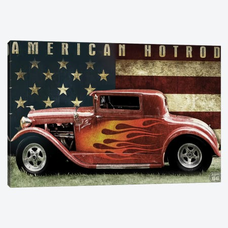 American Hot Rod Canvas Print #ORT99} by Old Red Truck Canvas Print