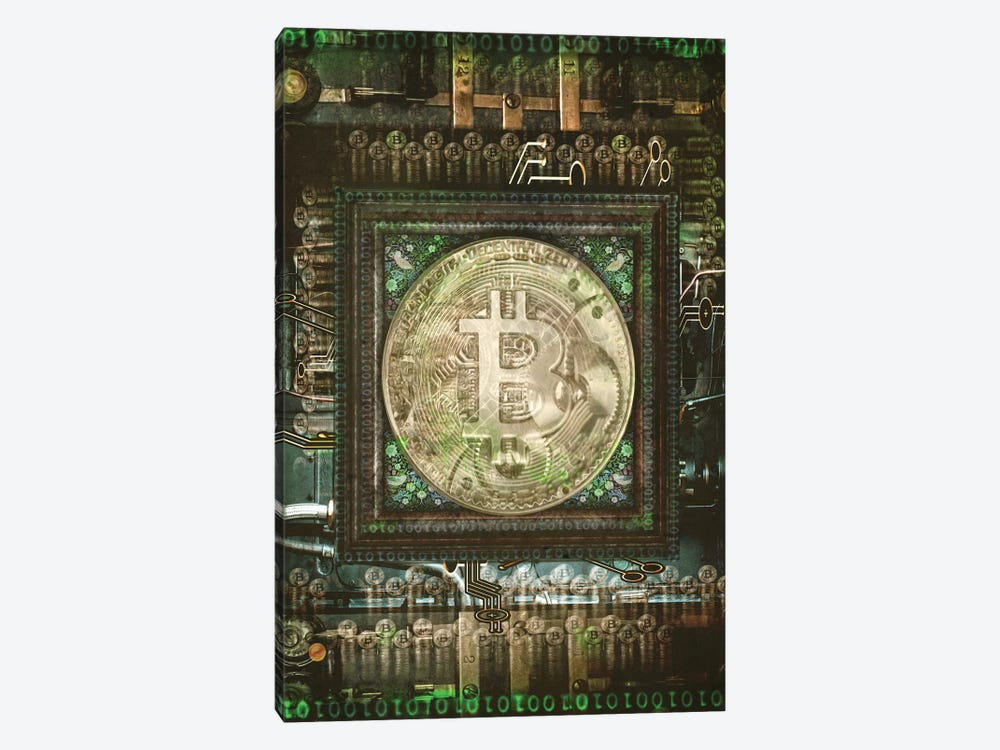 Bitcoin Steam Punk by Old Red Truck 1-piece Art Print