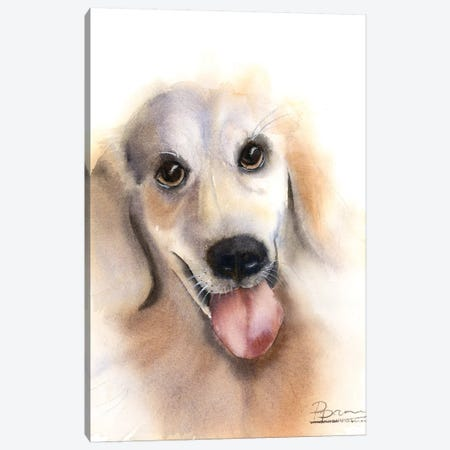 Dog Canvas Print #OSF103} by Olga Shefranov Canvas Print