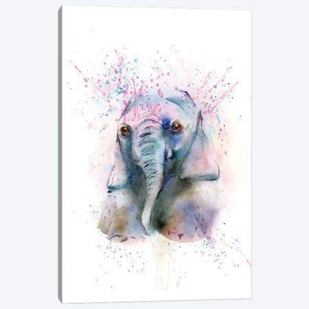 Elephant Canvas Print #OSF116} by Olga Shefranov Canvas Art Print