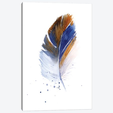 Feather Canvas Print #OSF126} by Olga Shefranov Canvas Artwork
