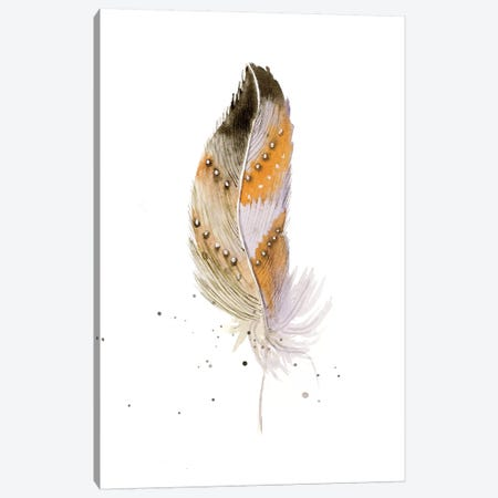 Feather II Canvas Print #OSF127} by Olga Shefranov Canvas Wall Art