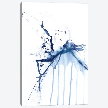 Figurative in Navy IV 3-Piece Canvas #OSF132} by Olga Shefranov Canvas Wall Art