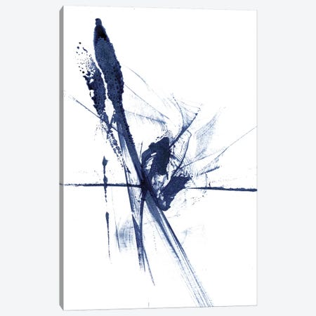 Figurative in Navy V 3-Piece Canvas #OSF133} by Olga Shefranov Canvas Art