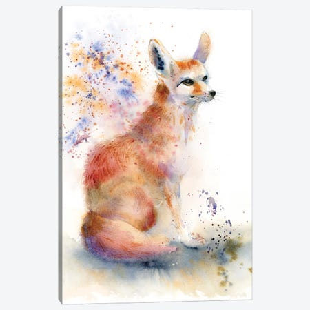 Foxy Canvas Print #OSF147} by Olga Shefranov Canvas Artwork