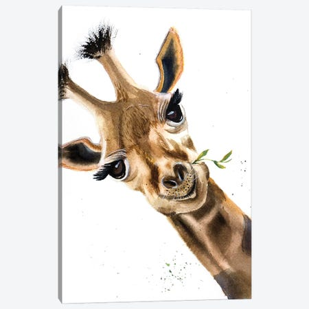 Giraffe Canvas Print #OSF152} by Olga Shefranov Canvas Artwork
