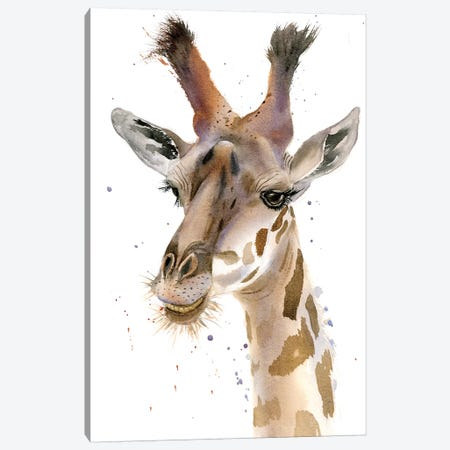Giraffe Canvas Print #OSF153} by Olga Shefranov Canvas Art