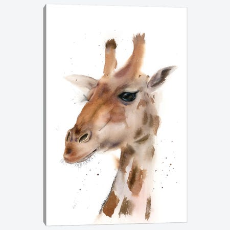 Giraffe Canvas Print #OSF155} by Olga Shefranov Art Print