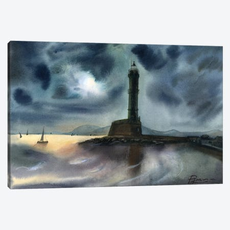 Lighthouse Canvas Print #OSF191} by Olga Shefranov Canvas Wall Art
