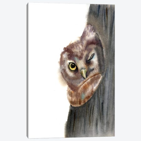 Peeker Canvas Print #OSF233} by Olga Shefranov Canvas Art Print