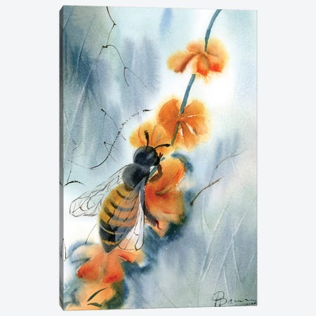 Bee III Canvas Print #OSF25} by Olga Shefranov Canvas Wall Art