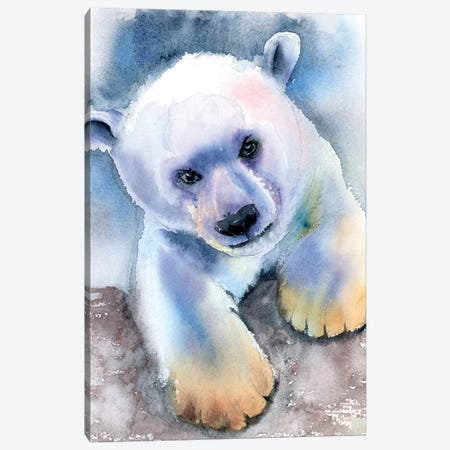Polar Bear Canvas Print #OSF268} by Olga Shefranov Canvas Artwork