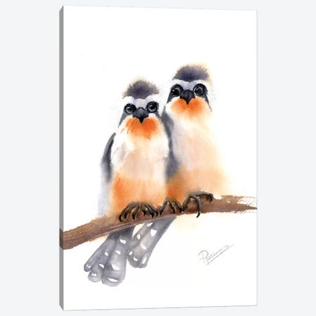 Bird Buds Canvas Print #OSF29} by Olga Shefranov Art Print