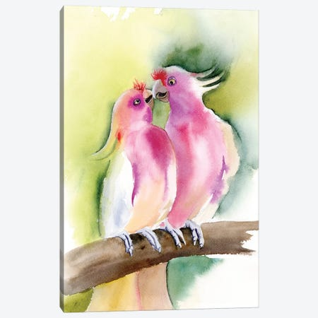 Tropical Birds 3-Piece Canvas #OSF338} by Olga Shefranov Canvas Artwork