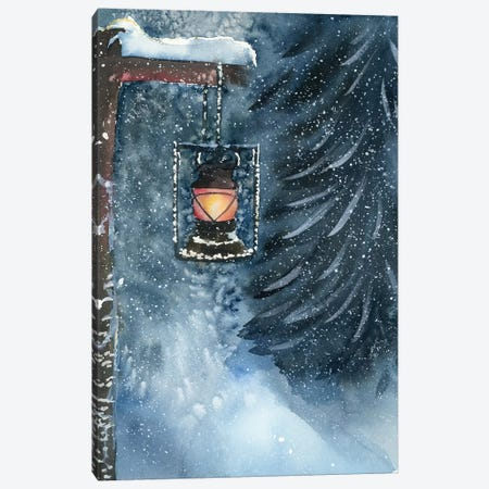 Winter Lantern Canvas Print #OSF351} by Olga Shefranov Canvas Art