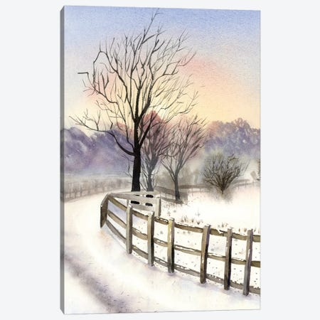 Winter Scene Canvas Print #OSF352} by Olga Shefranov Canvas Art
