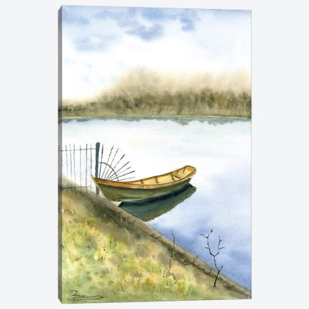 Boat on the Water Canvas Print #OSF42} by Olga Shefranov Canvas Art Print
