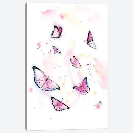 Butterflies I Canvas Print #OSF56} by Olga Shefranov Art Print