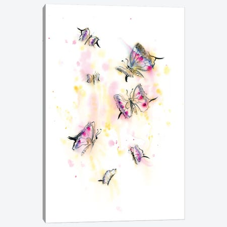 Butterflies II Canvas Print #OSF57} by Olga Shefranov Art Print