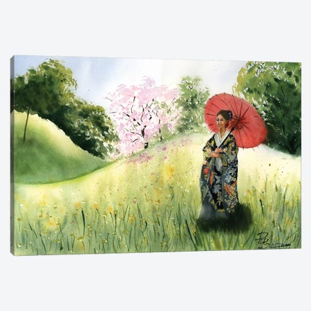 Asian Landscape II Canvas Print #OSF7} by Olga Shefranov Art Print